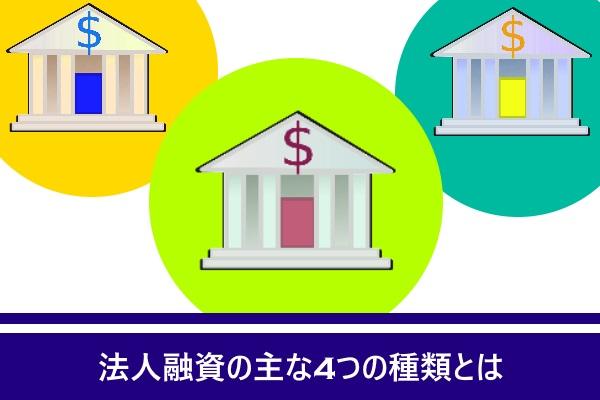法人融資の主な4つの種類とは