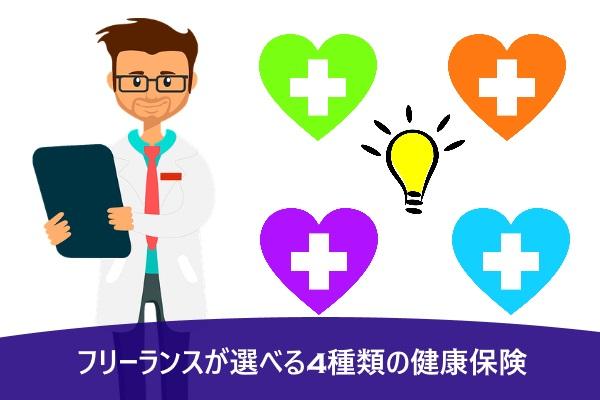 フリーランスが選べる4種類の健康保険