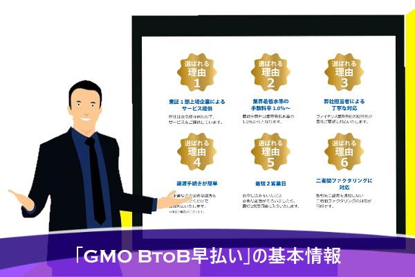 「GMO BtoB早払い」の基本情報