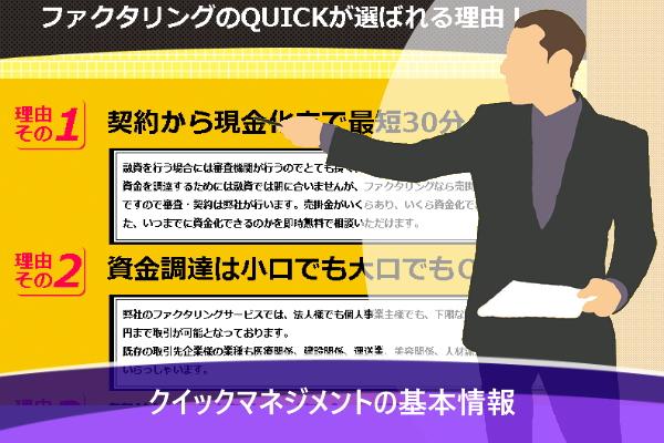 クイックマネジメントの基本情報